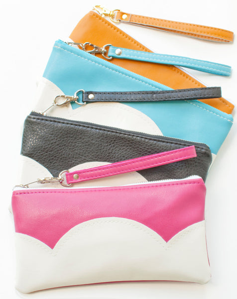 The Cloud Clutch - Fuchsia