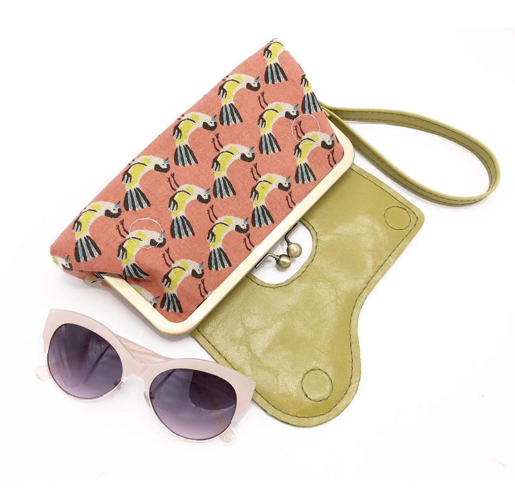 The Audrey Wallet Clutch - Bird Print