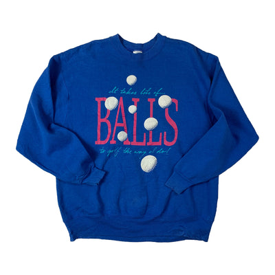 Sweatshirt Heavy Fruit Of The Loom Balls Golf - Rose & Bleu