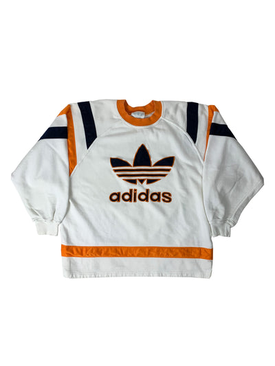 Sweatshirt Adidas - Blanc & Orange