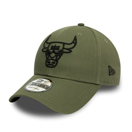 Casquette New Era 9FORTY Essential Outline Chicago Bulls olive
