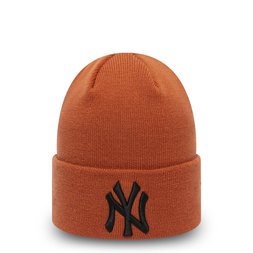 Bonnet New Era Cuff Knit New York Yankees brun rouille 12490154
