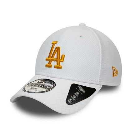 Casquette New Era 9FORTY Diamond Los Angeles Dodgers blanche pour enfant