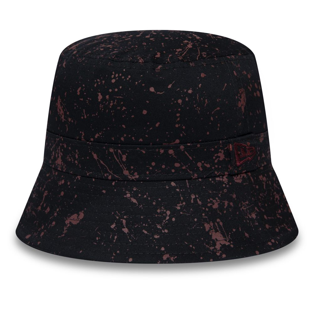 Bob New Era Junior Youth Paint Splatter Kids Bucket noir 12285401
