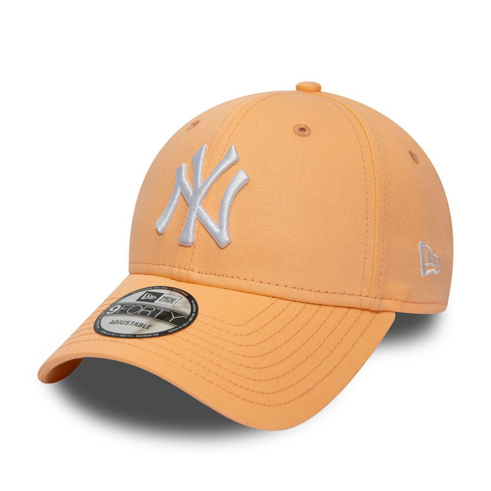 Casquette New Era 9FORTY New York Yankees orange clair 11945653