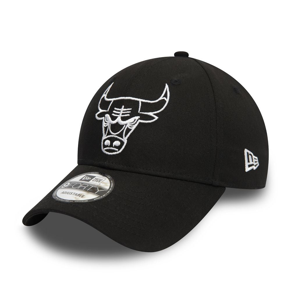 Casquette New Era 9FORTY Outline Chicago Bulls noire 12292586