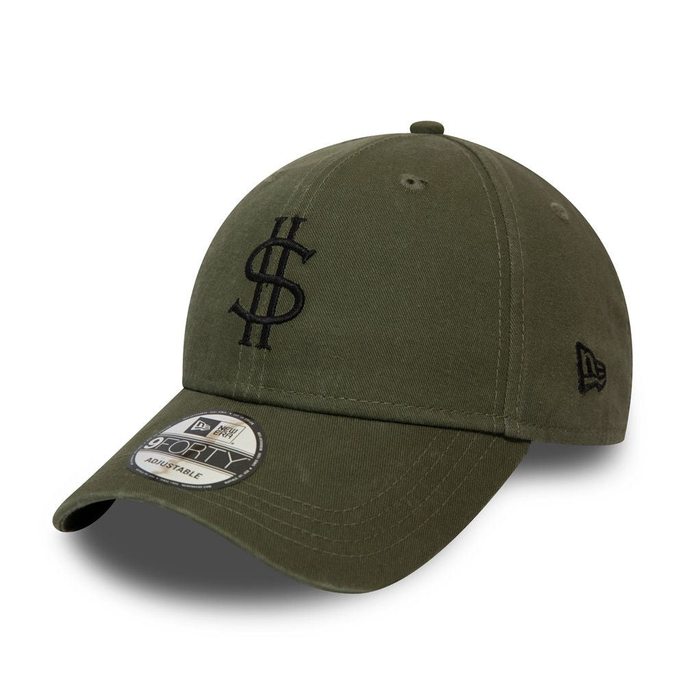 Casquette New Era 9FORTY Script Dollar Pack vert olive 12380975