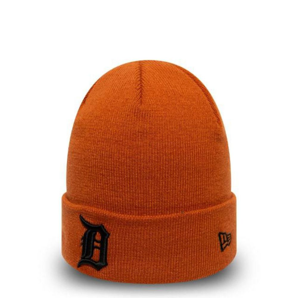 Bonnet New Era Cuff Knit Détroit Tigers brun cognac 12040427