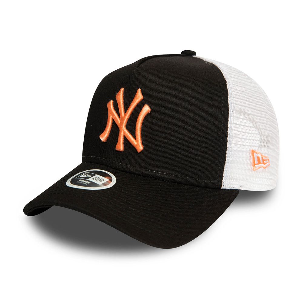 Casquette New Era Femme TRUCKER New York Yankees noire 12380755
