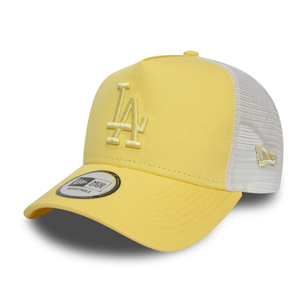 Casquette New Era Femme TRUCKER Essential LA Dodgers jaune 12380756