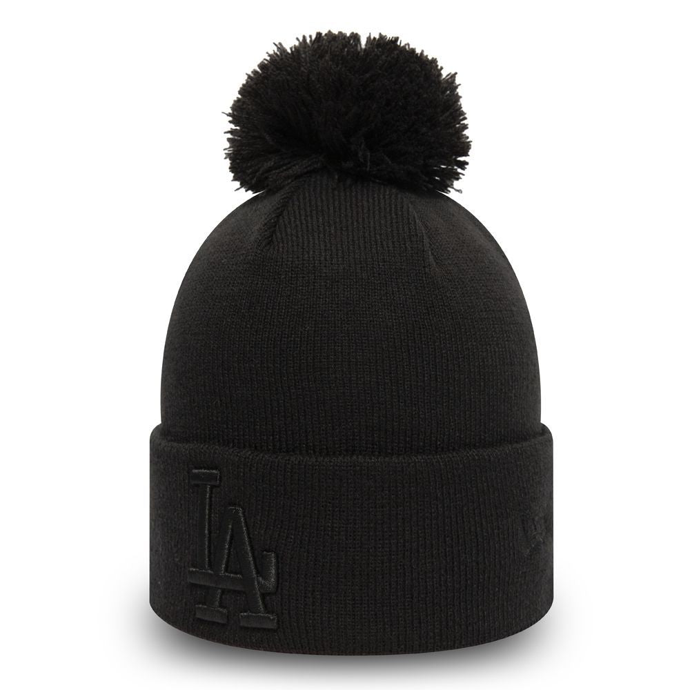 Bonnet à pompon pour femme New Era Los Angeles Dodgers noir 12134637
