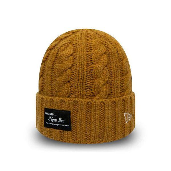Bonnet New Era Ribbed Cuff NE brun 12040311