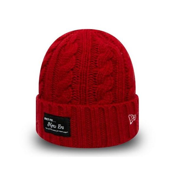 Bonnet New Era Ribbed Cuff NE rouge 12040312