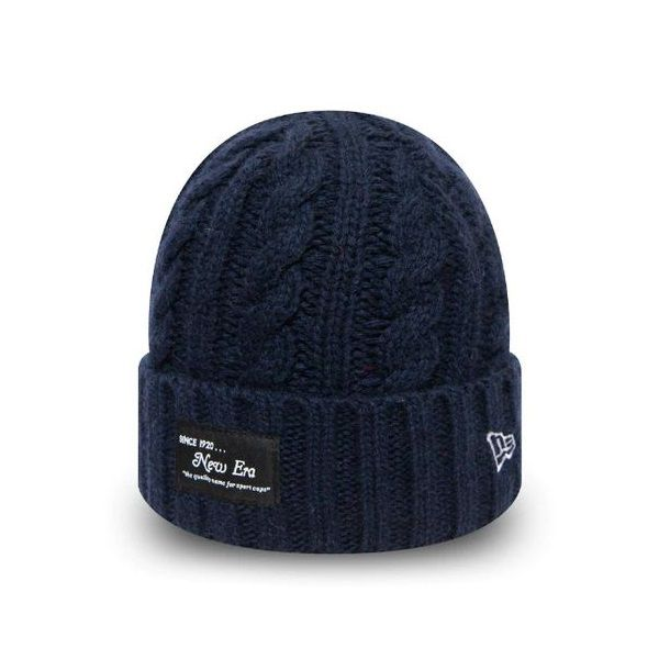 Bonnet New Era Ribbed Cuff NE bleu marine 12040313