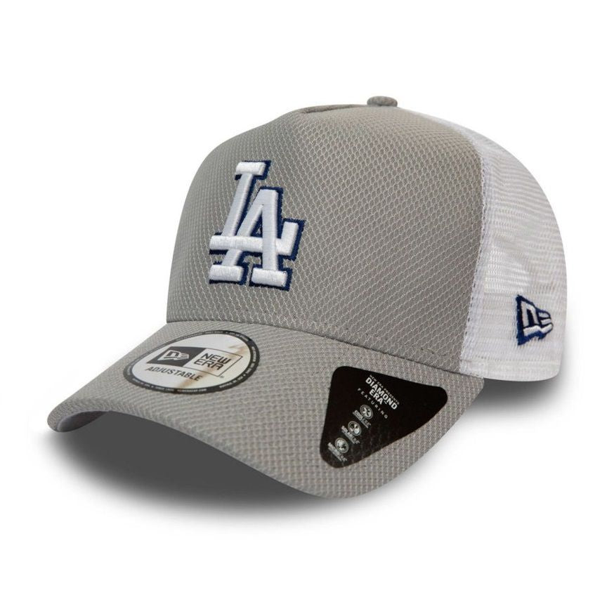 Casquette New Era TRUCKER Diamond Los Angeles Dodgers grise 901302