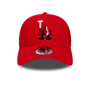 Casquette New Era TRUCKER Camouflage Infill Los Angeles Dodgers rouge
