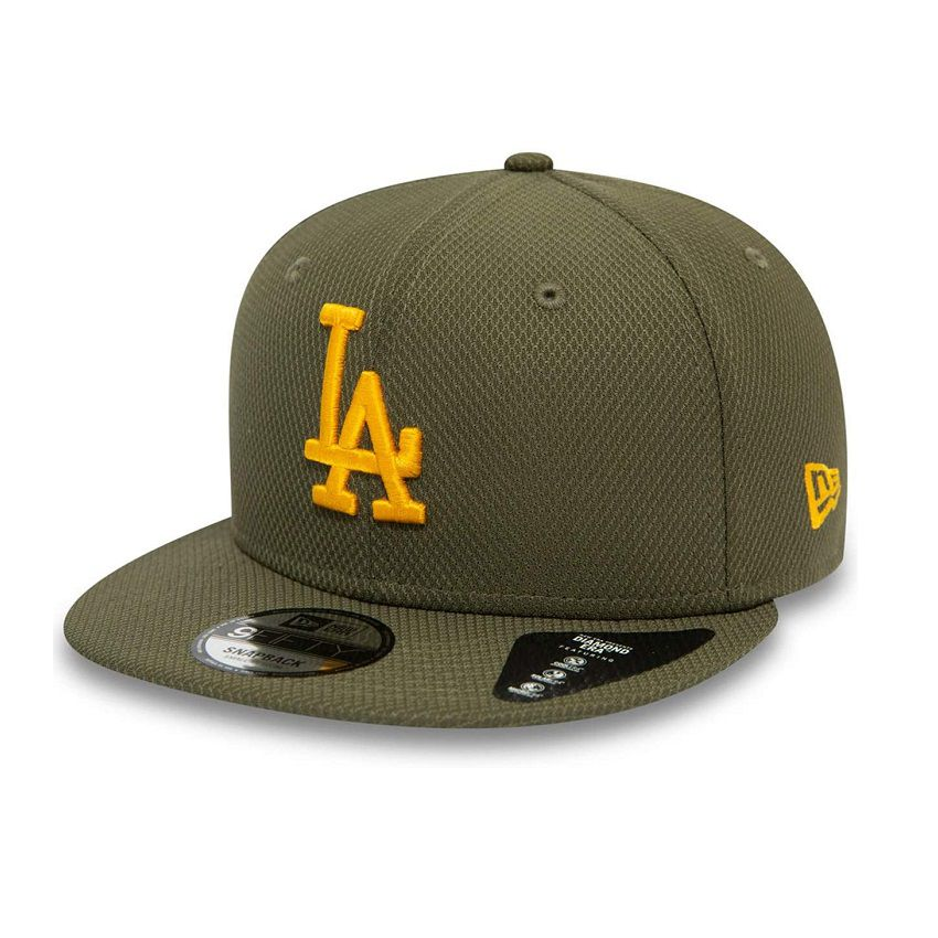 Casquette New Era 9FIFTY Diamond LA Dodgers vert olive 11945714