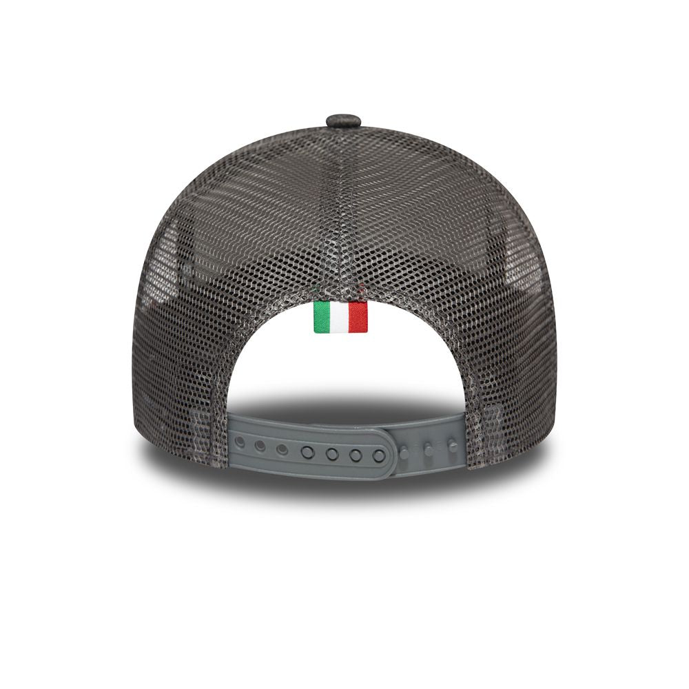 Casquette New Era TRUCKER A Frame Essential Vespa Patch grise charcoal 12286008