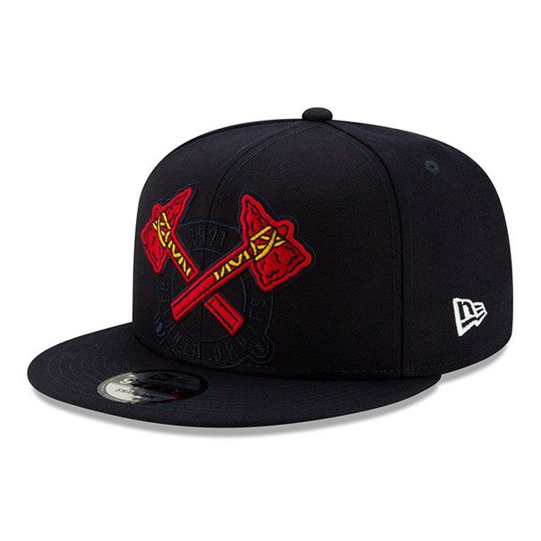 Casquette New Era 9FIFTY MLB Atlanta Braves bleu marine 12254381