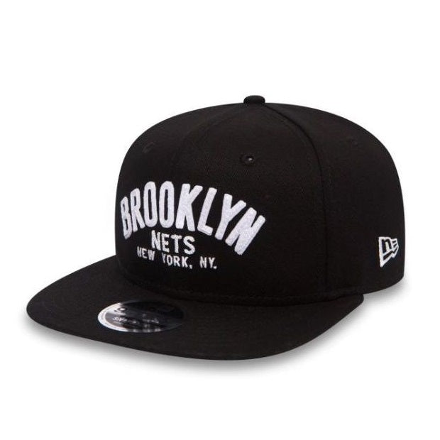 Casquette plate New Era 9FIFTY NBA Brooklyn Nets noire 80524781