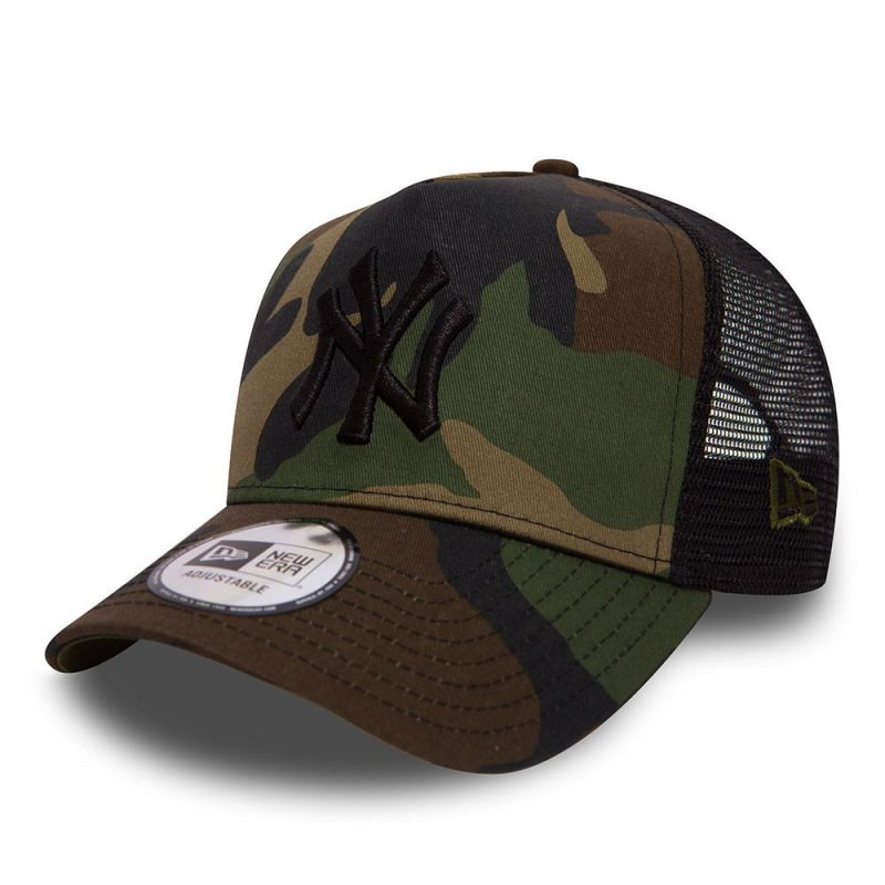 Casquette New Era TRUCKER A Frame NY Yankees wood camouflage 11579473