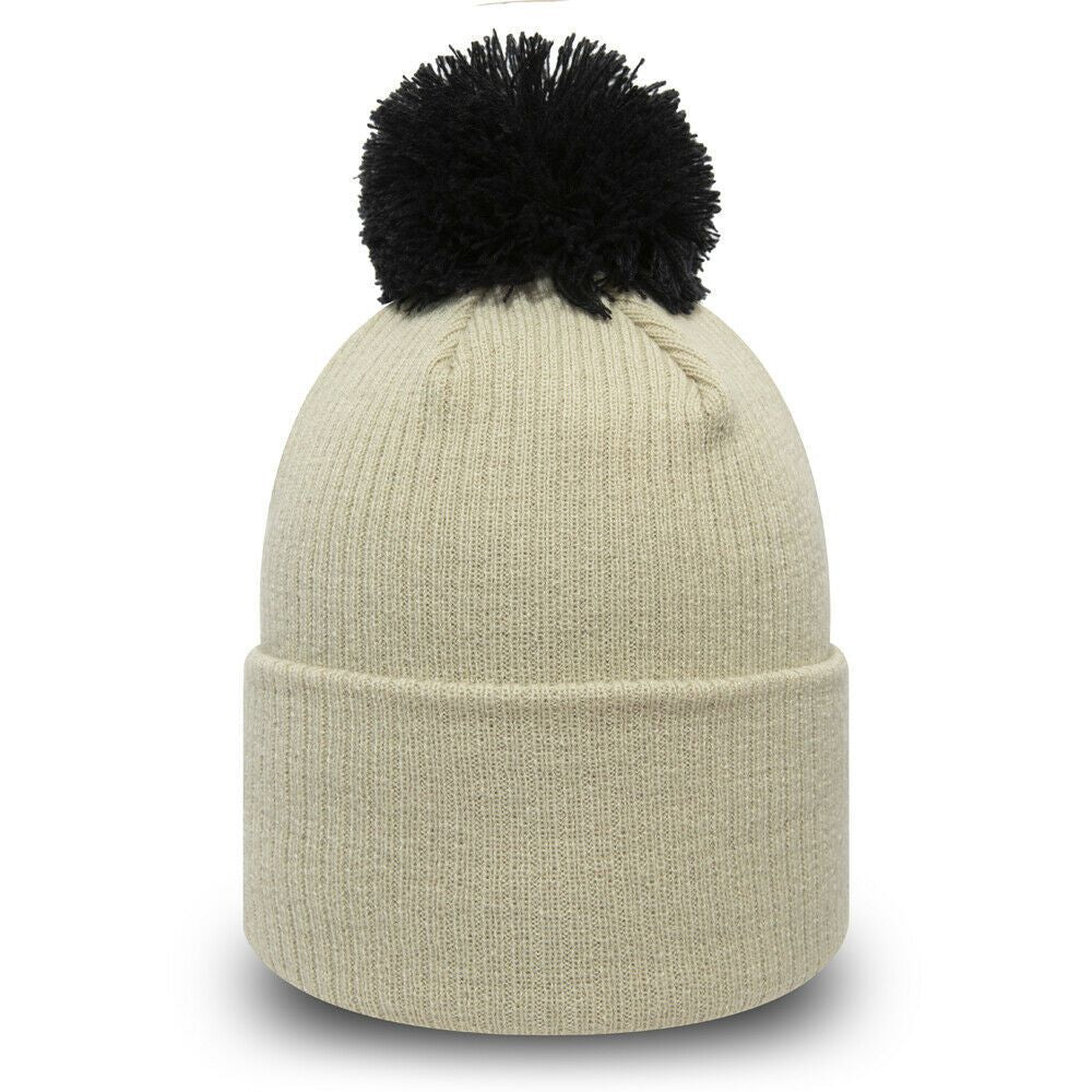 Bonnet à pompon pour femme New Era Disney Minnie blanc beige 12040544