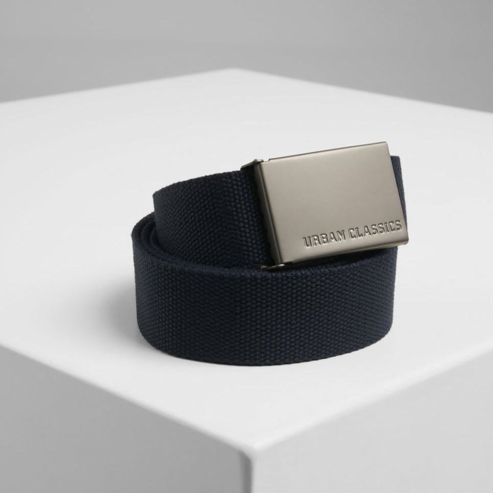Ceinture Urban Classics canvas ajustable bleue marine TB305