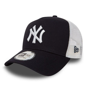 Casquette New Era TRUCKER Clean A Frame NY Yankees bleue 11588489