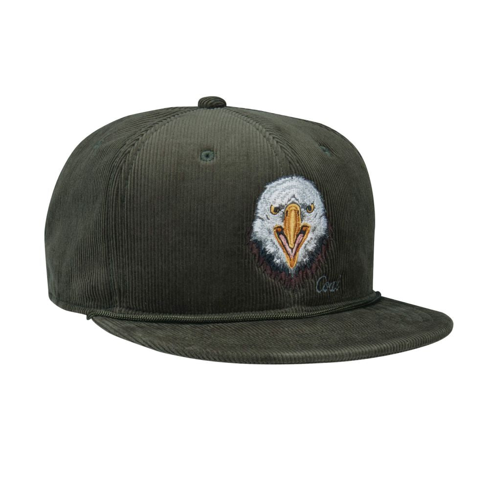 Casquette à visière plate COAL The Wilderness Eagle vert olive 263204