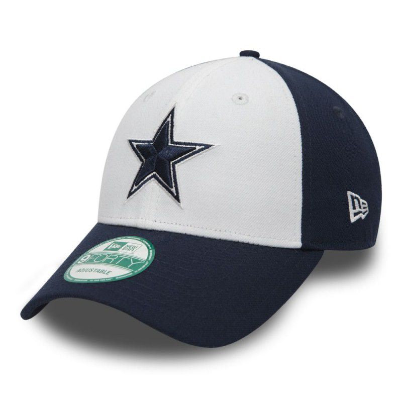 Casquette New Era 9FORTY NFL Dallas Cowboys blanche et bleue 10517887