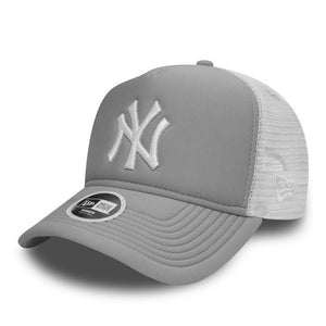 Casquette New Era Femme TRUCKER Essential NY Yankees grise 80536511