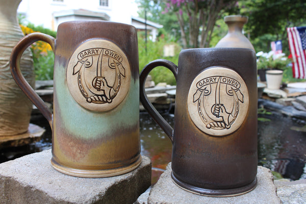 7th Cavalry Custom Beer Mugs in Heirloom and Java Glaze Schemes