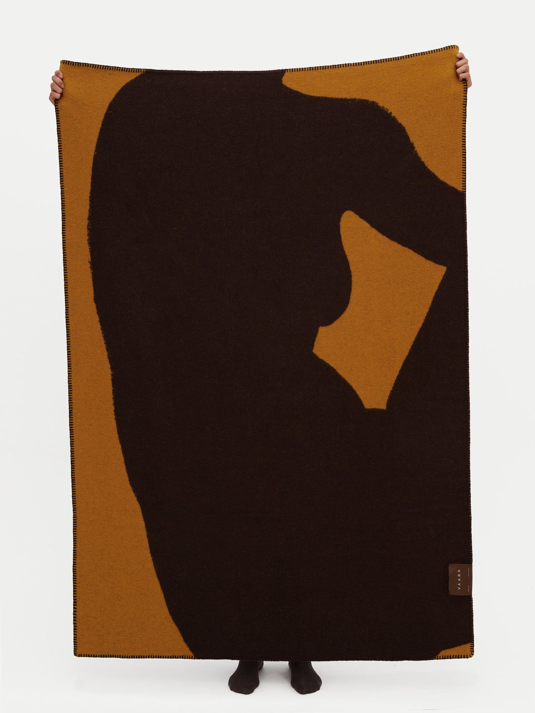 Figure Blanket With Strap Brown