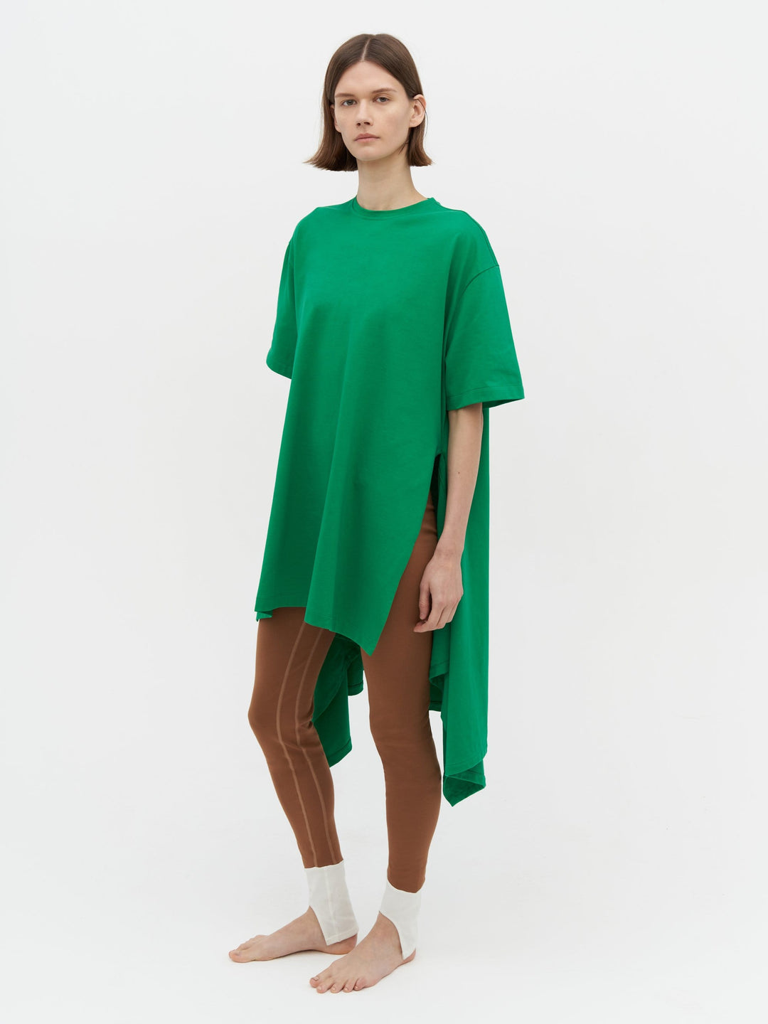 Wrap T-Shirt Dress Green