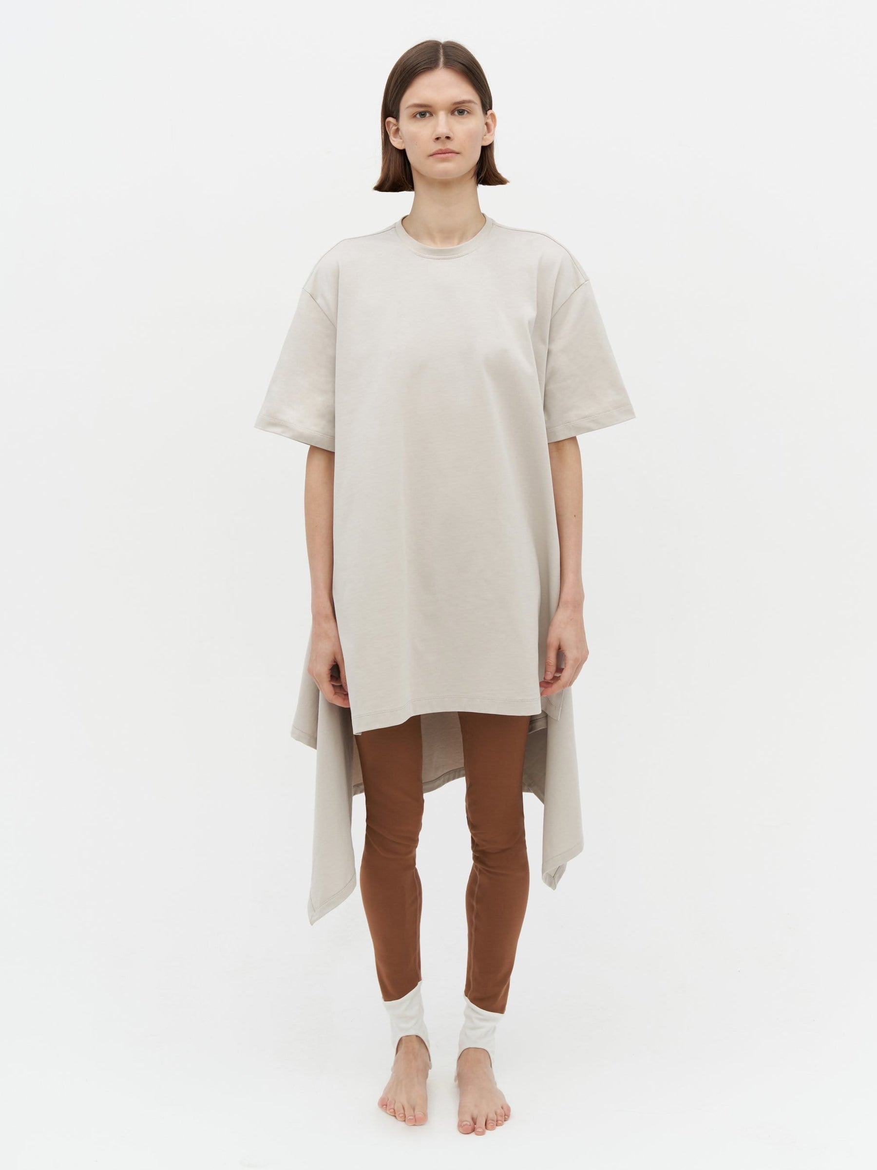 Wrap T-Shirt Dress Grey