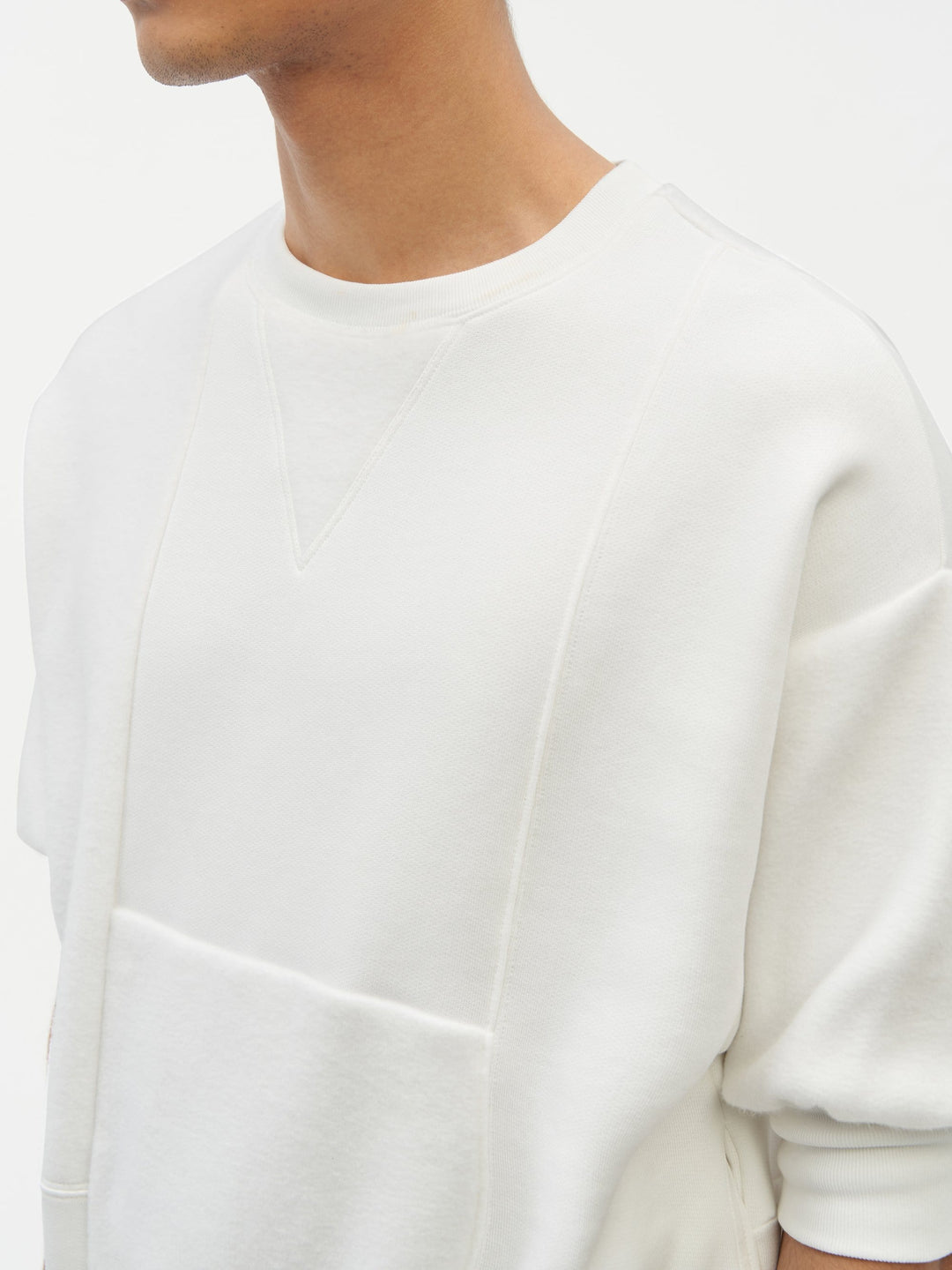Reverse Patch Sweatshirt White