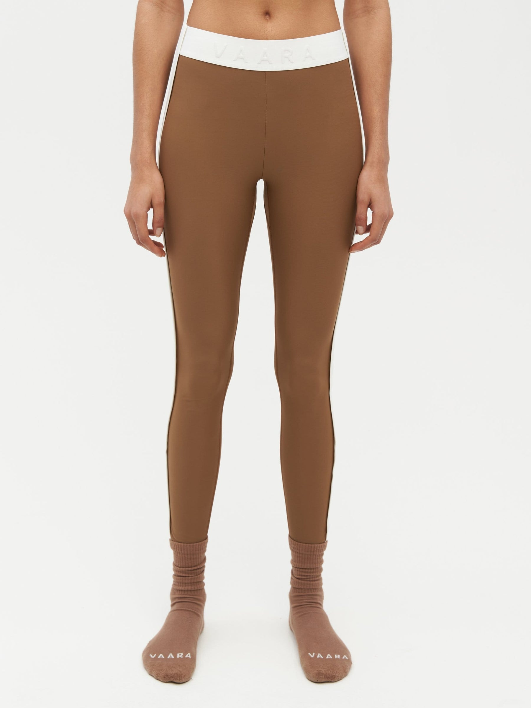 Binding Tape Legging Brown