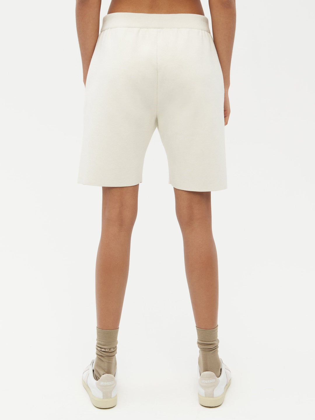 Essential Knit Shorts White