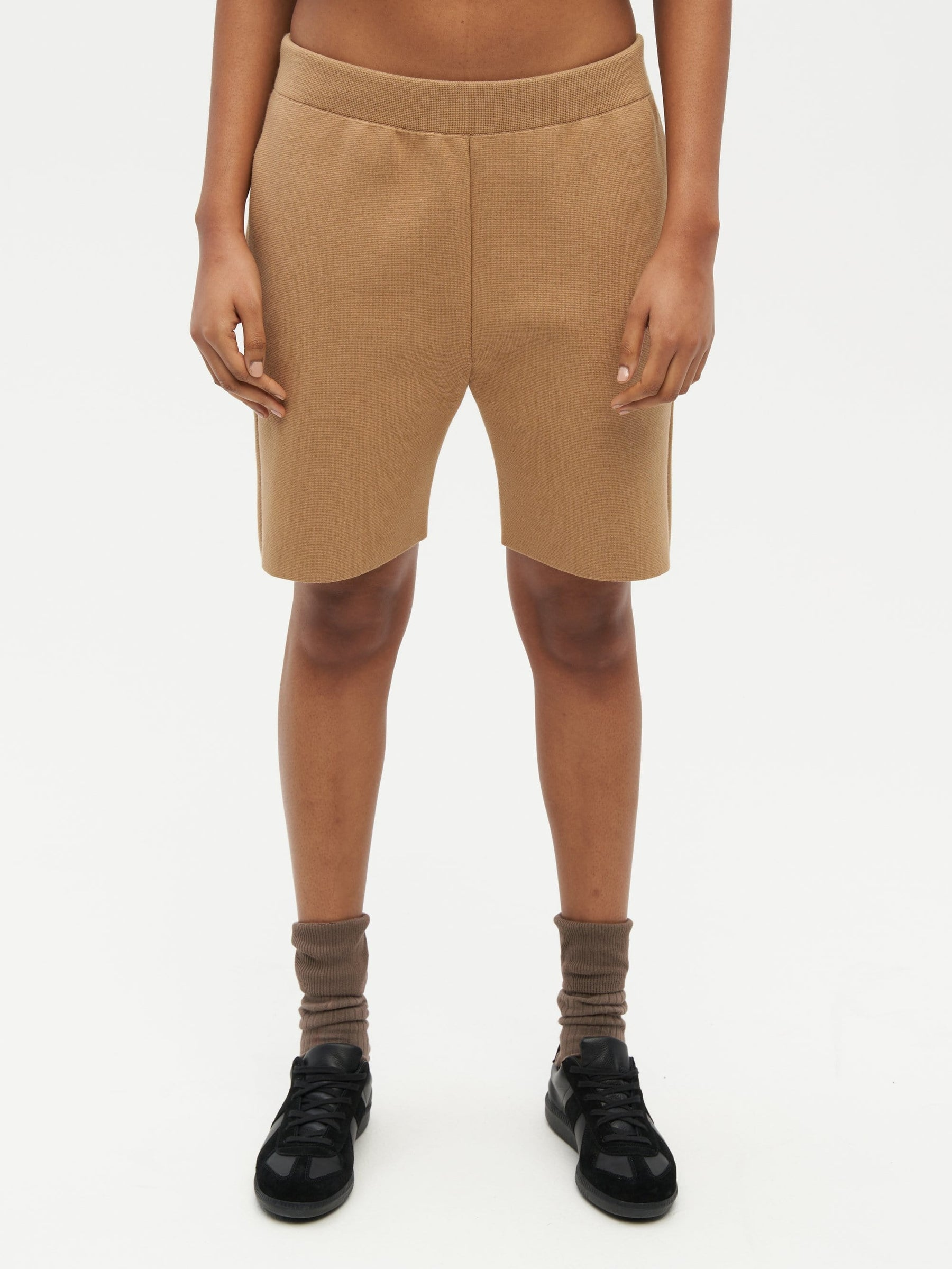 Essential Knit Shorts Brown