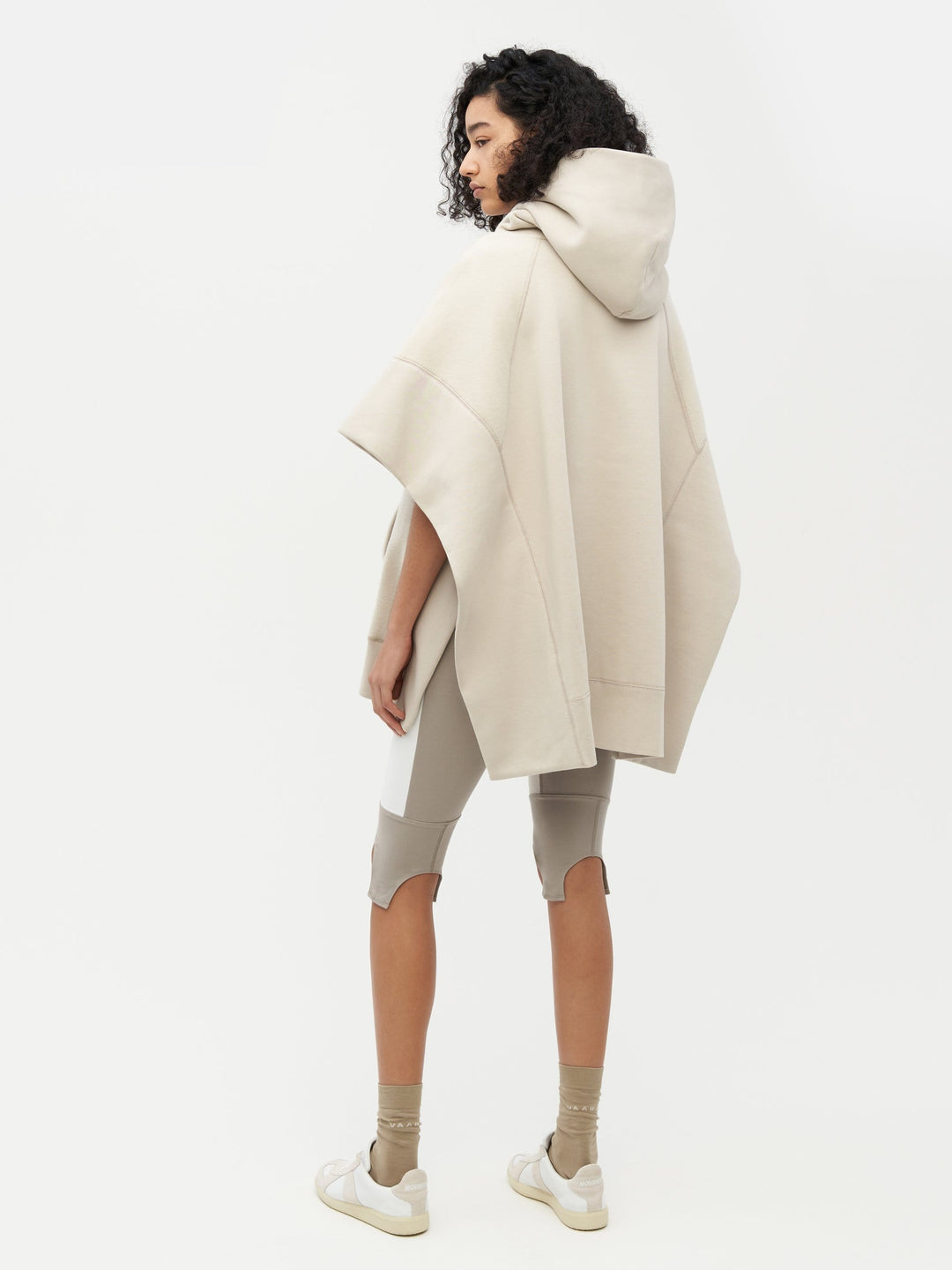 Sweatshirt Poncho Grey