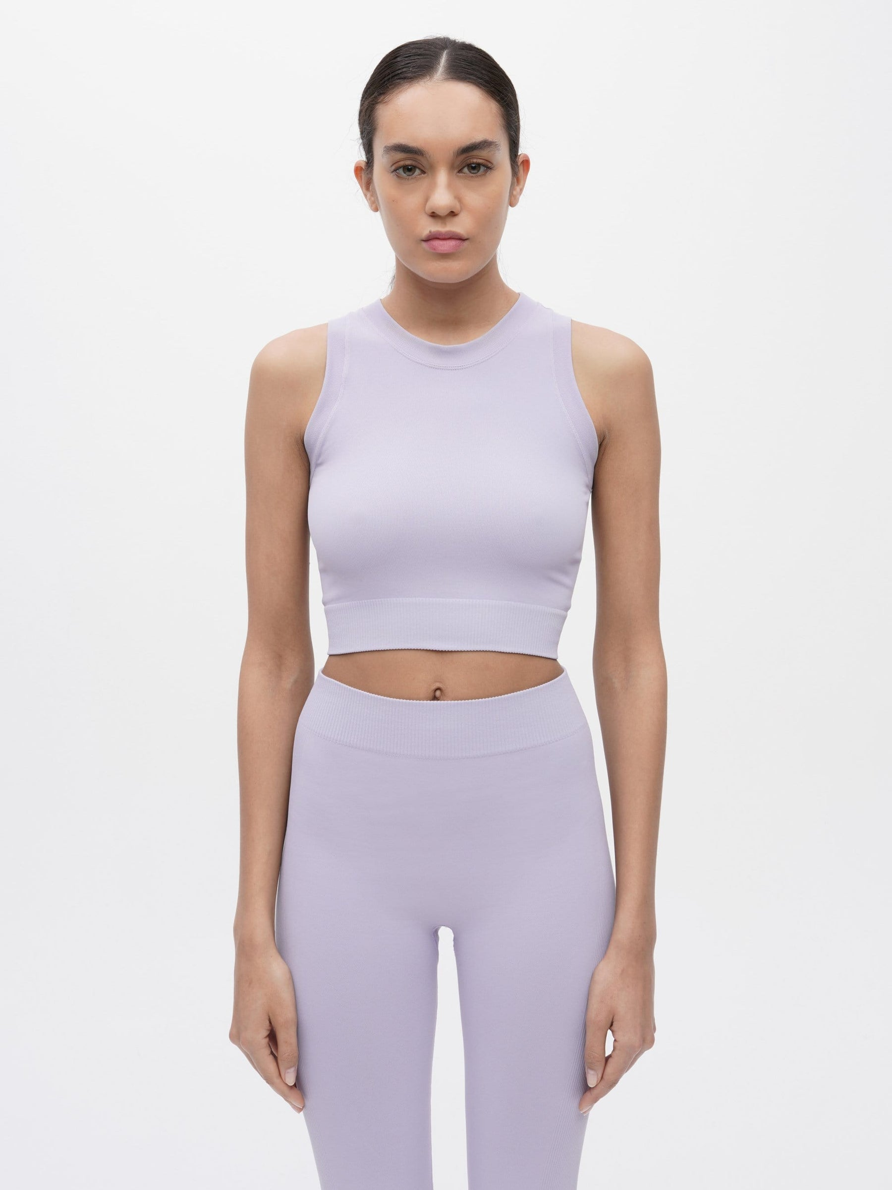 Essential Seamless Crop Top Purple