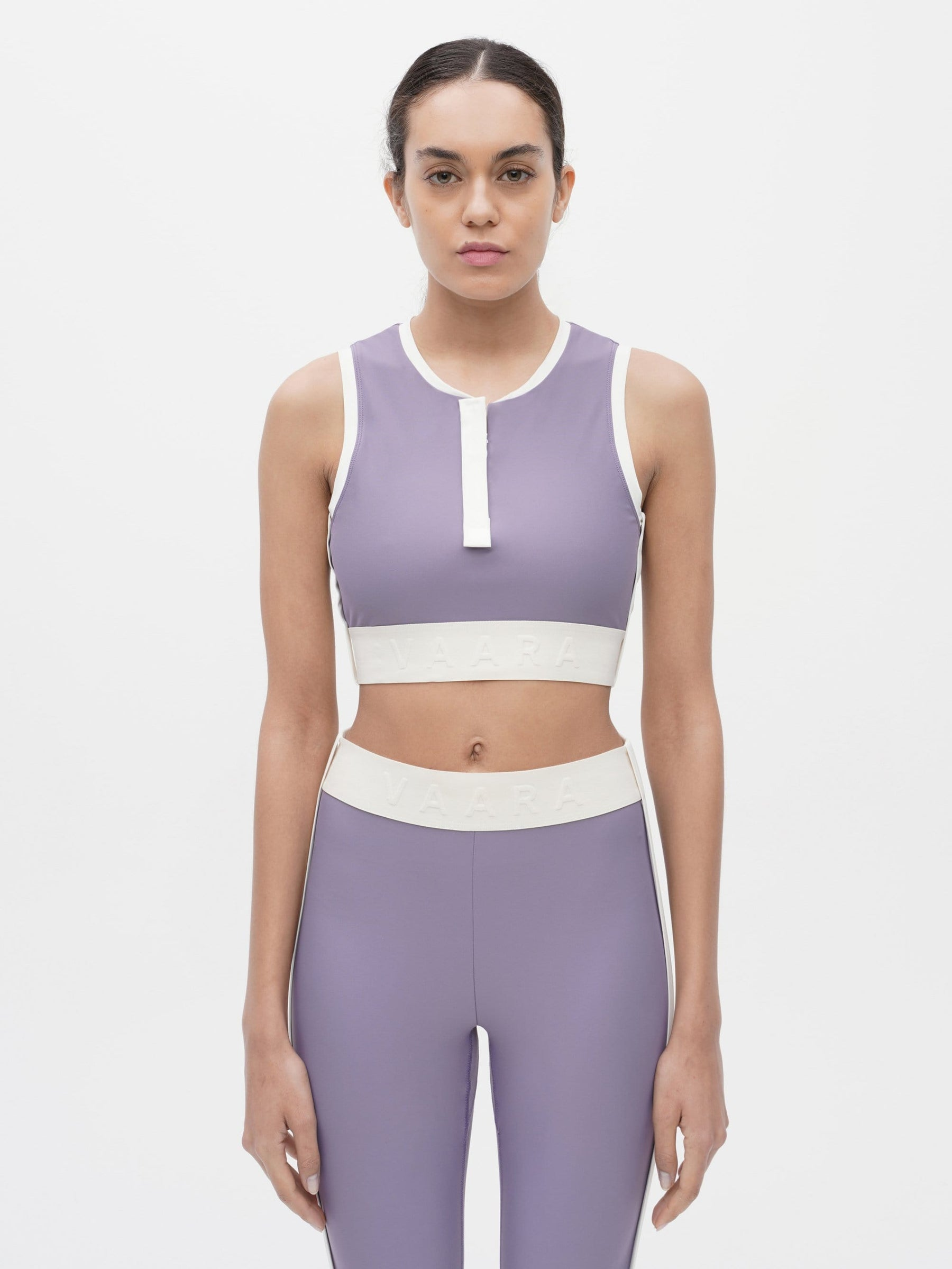 Binding Crop Bra Purple