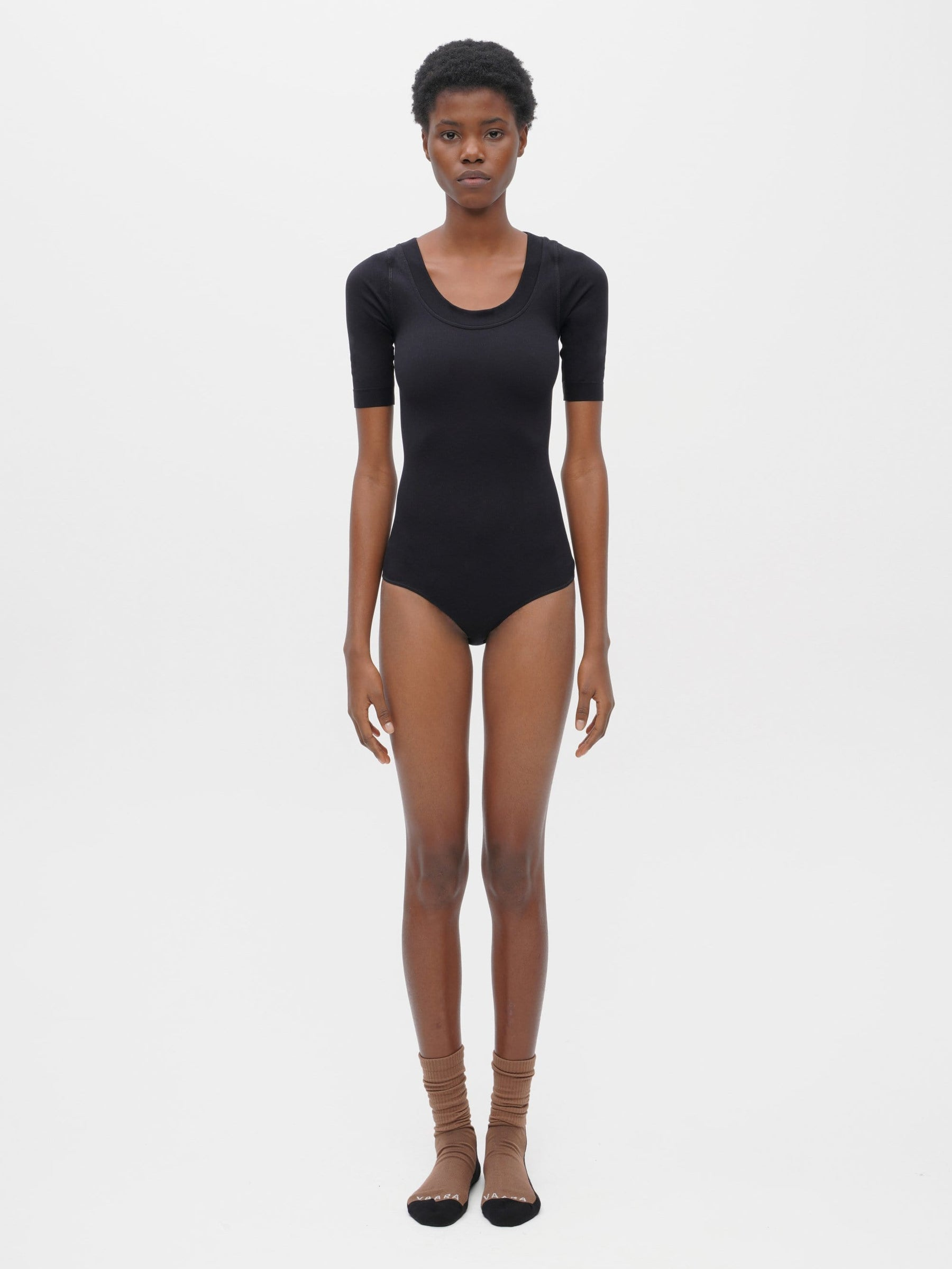 Essential Seamless Bodysuit Black