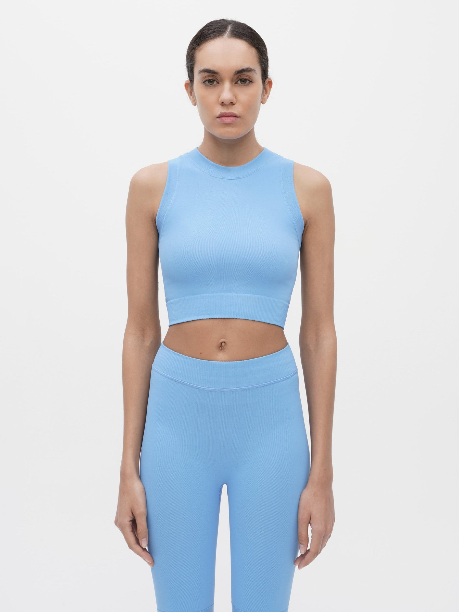 Essential Seamless Crop Top Blue