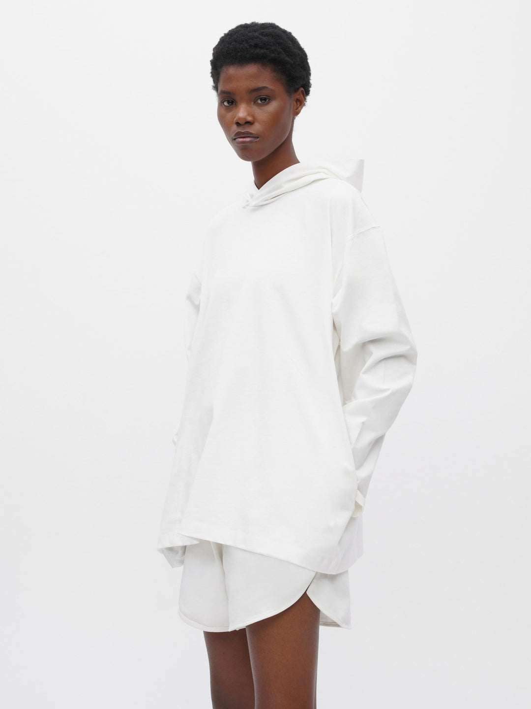 Unisex Hooded Pocket T-Shirt White
