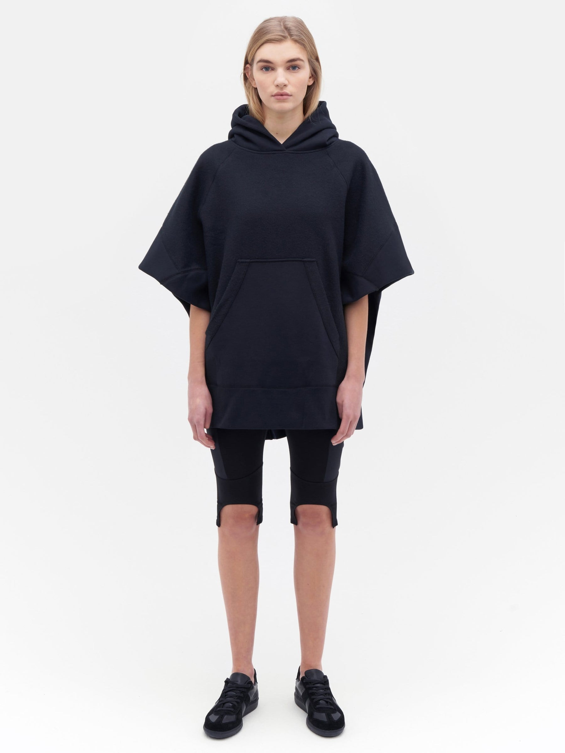Sweatshirt Poncho Black