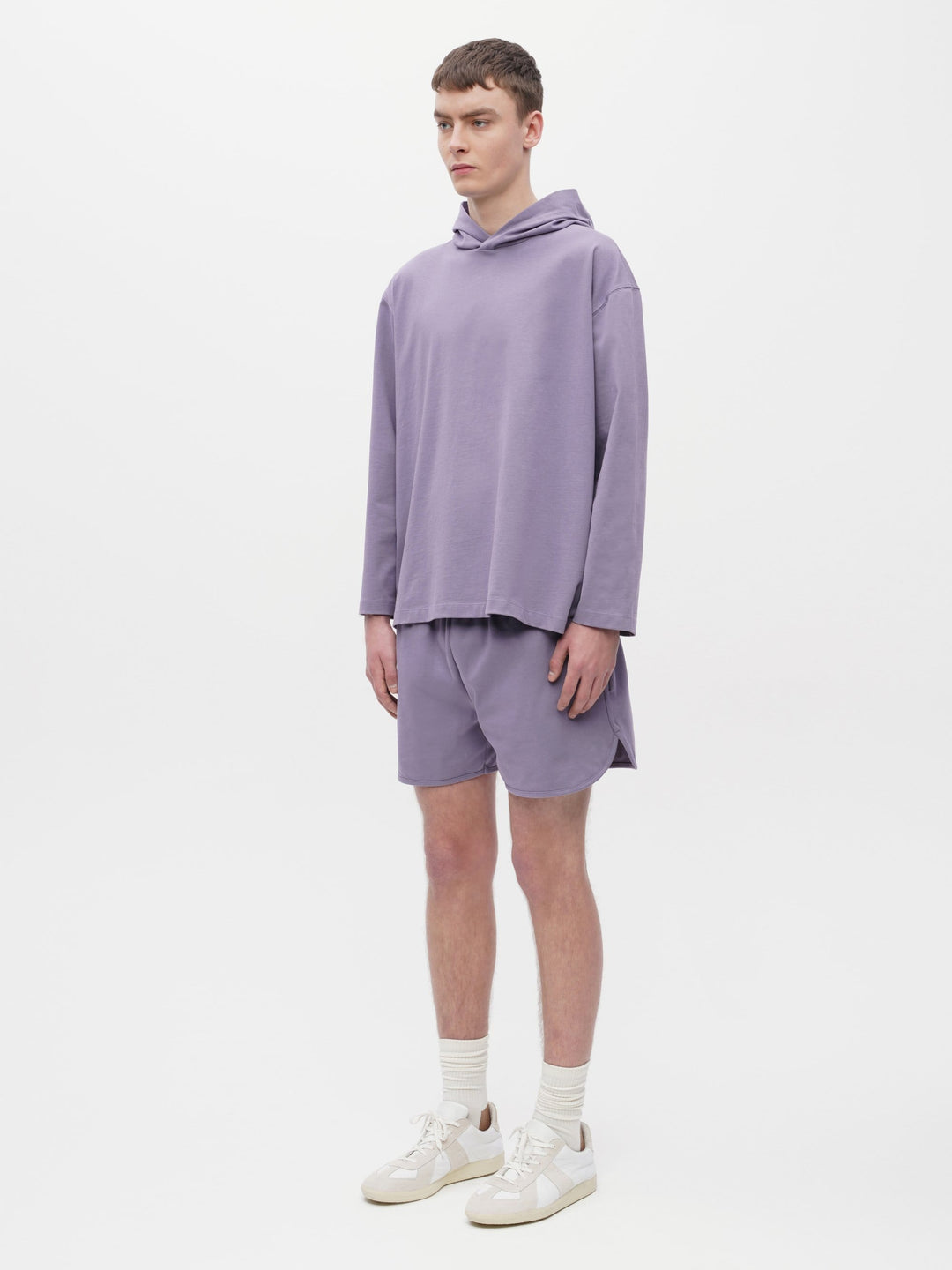 Unisex Hooded Pocket T-Shirt Purple