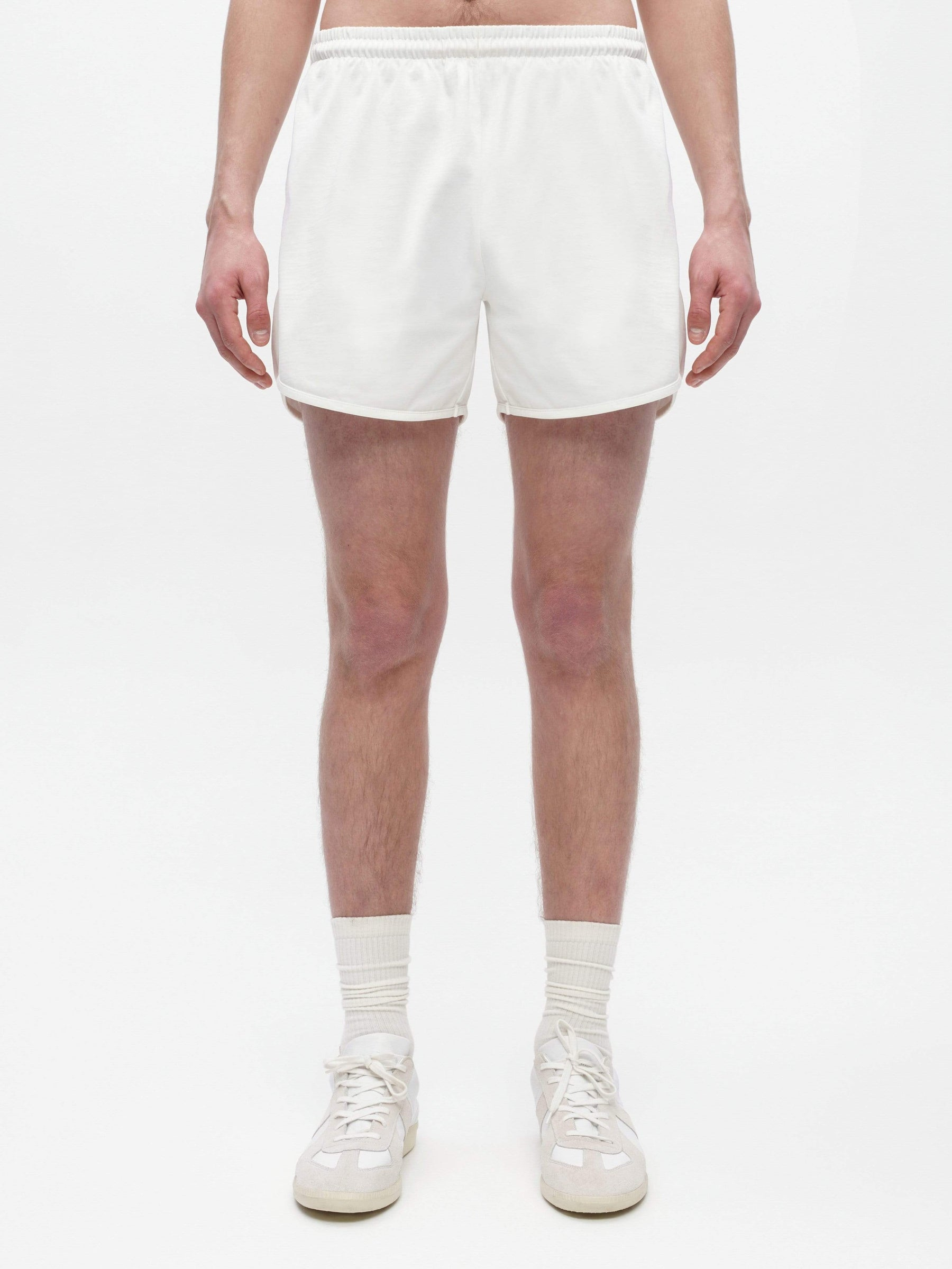 Unisex Loose Running Shorts White