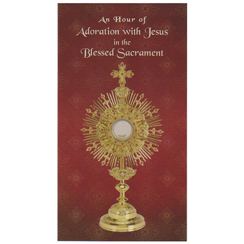 Trifold Adoration Prayer Card