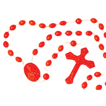 Load image into Gallery viewer, PLASTIC CORD ROSARY-MULTIPLE COLORS
